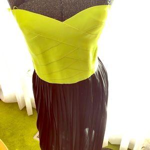 Neon yellow bandage dress